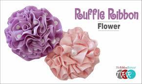 ruffle ribbon how to make a ruffle ribbon flower theribbonretreat