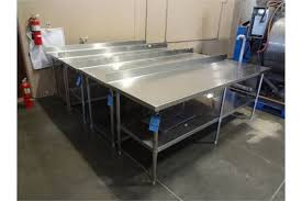 Stainless Steel Folding Table 30 X 96 Stainless Steel Sorting Folding Table