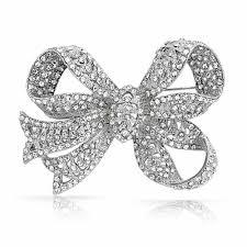 bling ribbon antique style ribbon bridal brooch bow pin