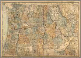 Idaho Montana Map by Sectional Map Of Washington Oregon Idaho And Western Montana
