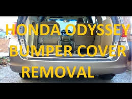 honda odyssey rear bumper 2005 2010 honda odyssey rear bumper removal and installation