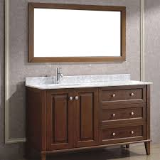 bathe 55 classic cherry bathroom vanity solid hardwood