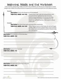 beginning middle end worksheet education com