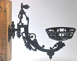 Cast Iron Wall Sconce Oil Lamp Holder Etsy