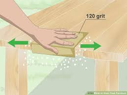 how to get stains out of wood table how to stain teak furniture 12 steps with pictures wikihow