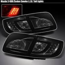mazda 3 tail lights mazda 3 sedan 2003 2008 smoked led tail lights a103iynn109