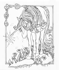 majestic unicorn coloring page free printable colouring