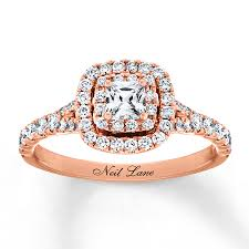 engagement rose rings images Neil lane engagement ring 1 ct tw 14k rose gold 940339512 kay jpg