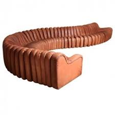 Old Fashioned Leather Sofa Curved Leather Couches Foter