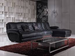 Livingroom Furniture Sets by Living Room Furniture Set Elegant Style With Black Leather