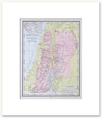 Map Of Palestine Bible History Vintage Maps