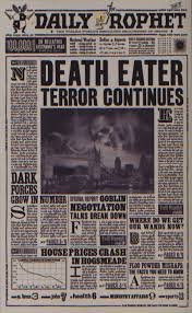Newspaper Book Report Template Daily Prophet Harry Potter Wiki Fandom Powered By Wikia