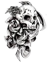 day of the dead skull tattoo design by amitchdesigns on deviantart