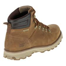 boots uk wide fit caterpillar mens sire brown sugar leather wide fit waterproof d