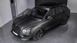 matte black bentley convertible bentley bentayga tuned by kahn design le mans edition takes no