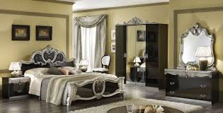 Barocco Bedroom Set | barocco bedroom set black and silver lacquer finish esf bedroom