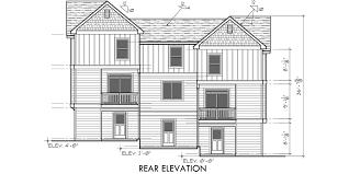 triplex house plans traditional house plans town house plans