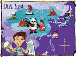 asia east map east asia map caravan friends