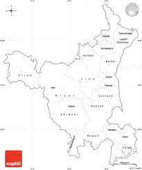 blank simple map of haryana cropped outside