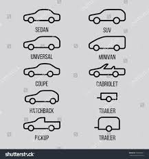 types of cars different types car body lines icon stock vector 705865051