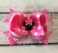 handmade hair bows minnie mouse hair accessories for ebay