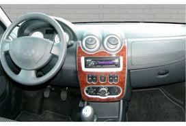 sandero renault interior logan dash kits wood interior trim grain molded carbon fiber