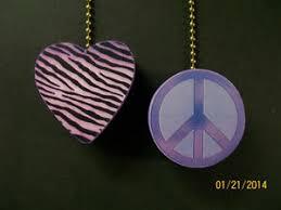 zebra print ceiling fan 2 zebra print heart and peace sign ceiling fan blades pulls ebay