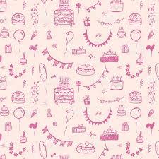 happy birthday vintage pattern background stock vector art