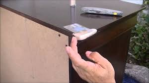 How To Touch Up Wood Cabinets How To Fix A Dresser Broken Corner Part 1 Bonding Building
