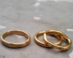 Contemporary Wedding Rings by Modern Wedding Ring Etsy
