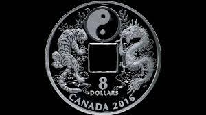 silver coin tiger and yin and yang