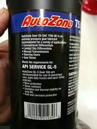 Autozone Help Desk 01 U002702 Gear Oil Question Valvoline 80w90 Subaru Forester