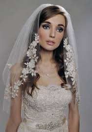 bridal veil new white ivory chagne wedding veil two tier length lace