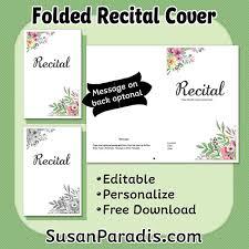 christmas concert program template personalize a recital program susan paradis piano teaching