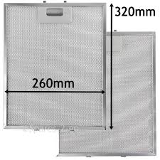 2 x metal mesh filter for teka cooker hood vent filters 320 x 260 mm