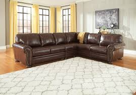 Double Chaise Sectional Furniture Sectional With Oversized Ottoman Ashley Sectional