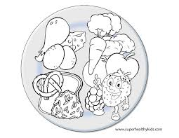 bright and modern food group coloring pages use cut outs for