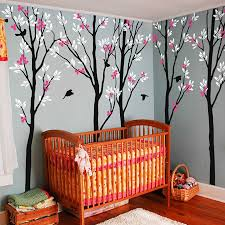 100 bird and tree wall stickers online shop removable pvc five trees with birds wall sticker by wall art