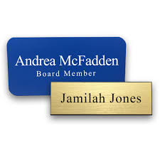 Decorative Name Plates For Home Printed U0026 Engraved Name Tags Customized Name Badges