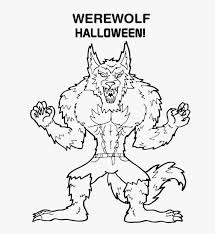 title in halloween coloring pages werewolf coloring page