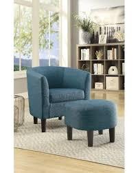 barrel chair with ottoman tis the season for savings on petree barrel chair and ottoman
