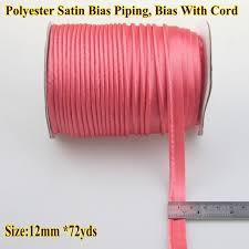 satin bias free shipping polyester satin bias with cord piping size