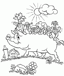 farm animal pig coloring pages womanmate com