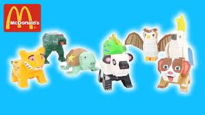 jeux de cuisine macdonald les animaux à construire 8 jouets mcdonald s meal sep 2017