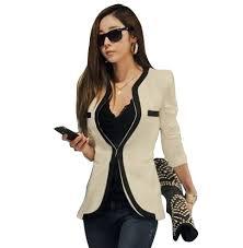 2014 new fashion winter women slim blazer coat casual jackets long