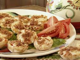 food canapes tomato canapes recipe paula deen food