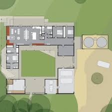 small courtyard house plans mansi courtyard house plan narrow plans with pool ranch modern adobe