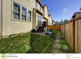 house with small backyard patio area stock photo image 44889554