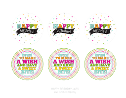 happy birthday jar free printable kiki u0026 company projects to