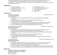 Food And Beverage Manager Resume Sample by Operations Manager Resume Template Image Gallery Of Classy Design